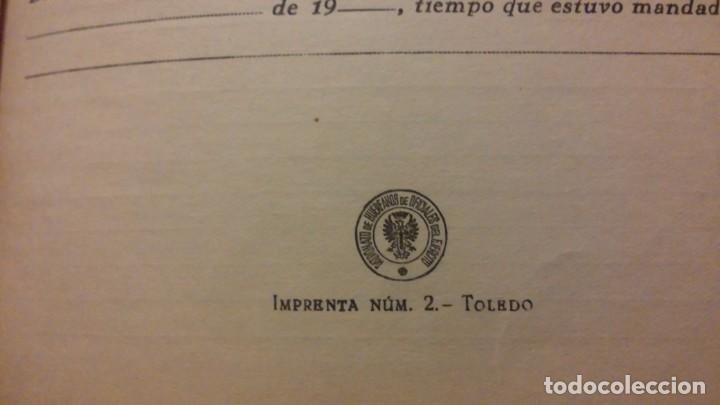 Militaria: LIBRO DE CAUDALES PARA OFICIALES SIN ESTRENAR EPOCA DE FRANCO - Foto 3 - 194243808
