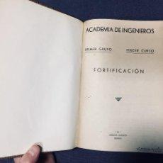 Militaria: ACADEMIA INGENIEROS 1ER GRUPO 3ER CURSO CONFERENCIAS FORTIFICACION 1ª PARTE 1941 ALDECOA. Lote 194259317