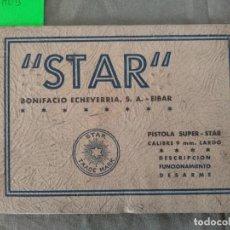 Militaria: MANUAL PISTOLA SUPER STAR 9 LARGO. Lote 194285022