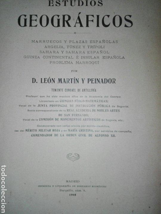 Militaria: ESTUDIOS GEOGRAFICOS.Marruecos .Posesiones españolas en Africa. Por D. LEON MARTIN Y PEINADOR - Foto 14 - 194346171