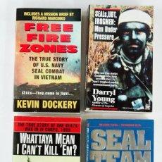 Militaria: LOTE DE 4 LIBROS NAVY SEALS EN VIETNAM. Lote 194399006