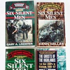 Militaria: LOTE DE 4 LIBROS DE LOS RANGERS-LRRP EN VIETNAM. Lote 194399342