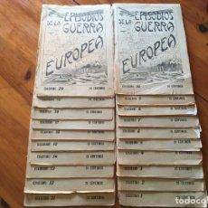 Militaria: EPISODIOS DE LA GUERRA EUROPEA,REVISTA,DEL Nº 1 AL 20 . Lote 194406500