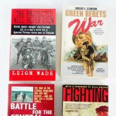 Militaria: LOTE DE 4 LIBROS DE LOS GREEN BERETS EN VIETNAM. Lote 194461360