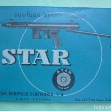 Militaria: MANUAL SUBFUSIL AMETRALLADOR STAR MODELO Z - 62. Lote 194504735