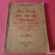 Militaria: LIBRO MILITAR PARA TODOS LOS RECLUTAS. EDICIÓN 1946 (174 PÁG ARMAS. TIRO. MAUSER. DIVISAS. INSIGNIAS. Lote 194519155