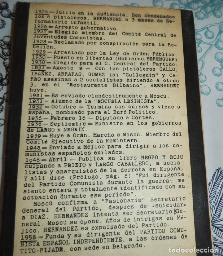 Militaria: YO MINISTRO DE STALIN EN ESPAÑA JESUS HERNANDEZ TOMAS PROLOGO MAURICIO CARLAVILLA Ed. NOS 2ª EDICION - Foto 2 - 194538946