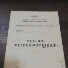 Militaria: MINISTERIO DEL AIRE. SERVICIO METEOROLOGICO NACIONAL.TABLAS PSICOMETRICAS. SECCION CLIMATOLOGIA.1954. Lote 194556833