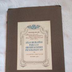 Militaria: ATLAS MINISTERIO DEL AIRE 1943 OBSERVACIONES FENOLÓGICAS.AVIACION.EJERCITO DEL AIRE.MILITAR.FRANCO.M. Lote 194658401