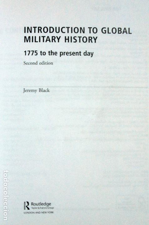Militaria: Introduction to Global Military History: 1775 to the Present Day .-Black, Jeremy - Foto 2 - 194694120