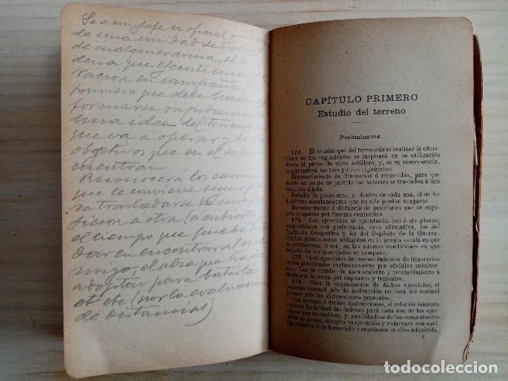 Militaria: ARTILLERIA - INSTRUCCIONES PARA EL TIRO DE LAS BATERIAS DE CAMPAÑA - REGLAMENTO - 1909 - Foto 2 - 194873748