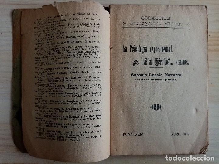 Militaria: LA PSICOLOGIA EXPERIMENTAL ¿ES UTIL AL EJERCITO?...VEAMOS - ANTONIO GARCIA NAVARRO - CAPITAN DE INF. - Foto 3 - 194877183
