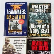 Militaria: LOTE 2: 4 LIBROS NAVY SEALS EN VIETNAM. Lote 194907386