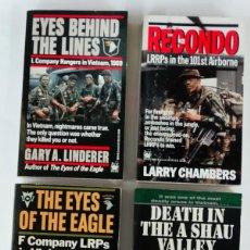 Militaria: LOTE 2: 4 LIBROS DE LOS RANGERS-LRRP EN VIETNAM. Lote 194907420