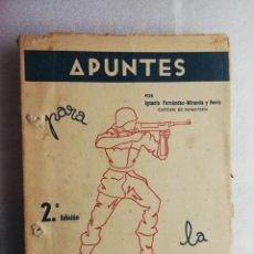 Militaria: APUNTES INSTRUCCION INDIVIDUAL CAPITAN DE INFANTERIA IGNACIO FERNANDEZ-MIRANDA Y HEVIA. Lote 195035592