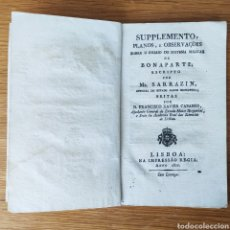 Militaria: NAPOLEONICO - 1811 SUPLEMENTO PLANOS E OBSERVAÇOES SOBRE O ENSAIO DO SISTEMA MILITAR DE BONAPARTE. Lote 195084695