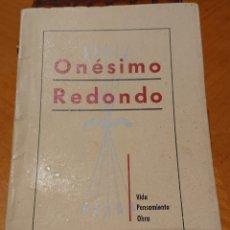 Militaria: LIBRO ONESIMO REDONDO, VALLADOLID AÑOS 40. PERFECTO ESTADO, ORIGINAL. Lote 195240276