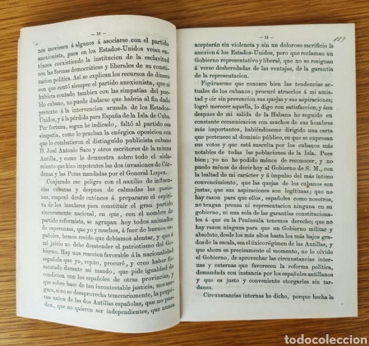 Militaria: INFORME SOBRE ULTRAMAR - GENERAL FRANCISCO SERRANO - GUERRA DE CUBA - 1968 GUERRA DE LOS DIEZ AÑOS - Foto 2 - 195260111
