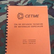 Militaria: MANUAL VACÍA - CARGADORES CETME. Lote 195270081