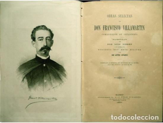 Militaria: VILLAMARTIN, Francisco. Obras selectas de... Comandante de la Infantería... 1883. - Foto 2 - 195277727