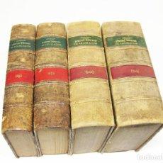 Militaria: 4 TOMOS DE LEGISLACION ARANZADI CORRESPONDIENTES A LA GUERRA CIVIL Y POSTGUERRA - 1938 A 1941. Lote 195283103