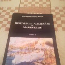 Militaria: HISTORIA DE LAS CAMPAÑAS DE MARRUECOS TOMO 4. SERVICIO HISTÓRICO MILITAR.MADRID 1981.. Lote 195303541