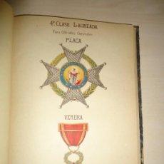 Militaria: APUNTES HISTÓRICOS DE LA REAL Y MILITAR ORDEN DE SAN FERNANDO. I. CRESPO COTO. 1908. AUTÓGRAFO. Lote 195332627