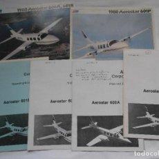 Militaria: LOTE DE FOLLETOS Y DOCUMENTACION PUBLICITARIA Y CARACTERISTICAS DEL AVION VIPER AEROSTAT 600A 601P . Lote 195372588