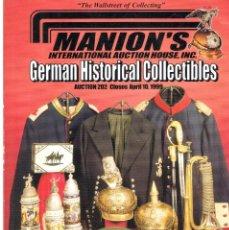 Militaria: MANION'S. AUCTION 202. ABRIL 1999. Lote 195383303