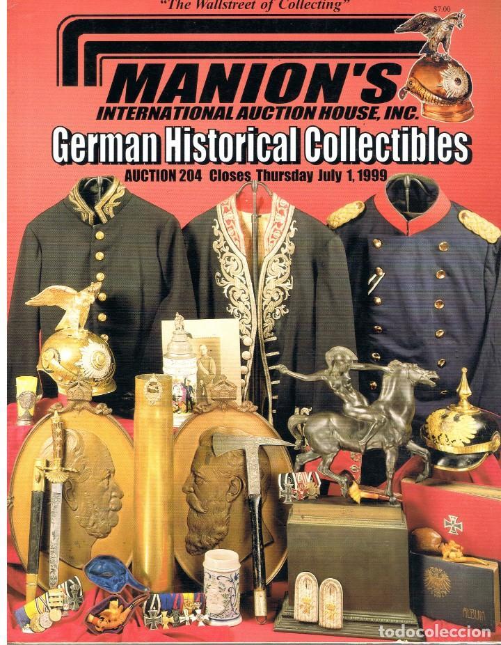 MANION'S AUCTION 204. JULIO 1999. (Militar - Libros y Literatura Militar)
