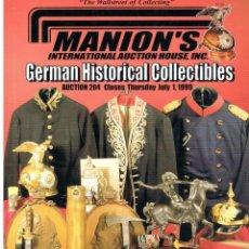 Militaria: MANION'S AUCTION 204. JULIO 1999.. Lote 195383451