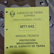 Militaria: MANUAL TÉCNICO PROTECCIÓN MEDIOAMBIENTAL EN EL EJÉRCITO DE TIERRA. Lote 195446900