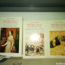 Militaria: HISTORIA DE LA GUERRA CIVIL. ANTONIO PIRALA 3 TOMOS. Lote 195475808