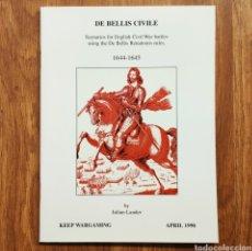 Militaria: WARGAME - DE BELLIS CIVILE 1644 - 1645 - MINIATURAS JUEGO DE GUERRA WARGAMES. Lote 195479885