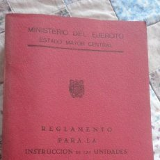 Militaria: MINISTERIO EJERCITO.REGLAMENTO.INSTRUCCION UNIDADES AMETRALLADORAS ALFA 7,92 MM. MADRID 1956. Lote 195497246