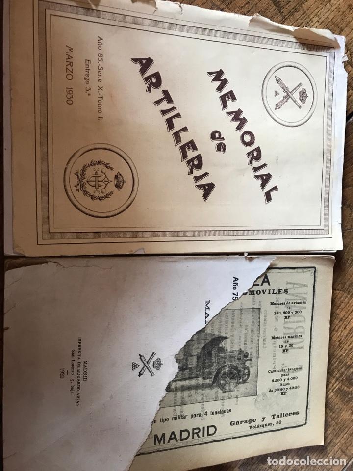 MEMORIAL DE ARTILLERÍA DOS EJEMPLARES (Militar - Libros y Literatura Militar)