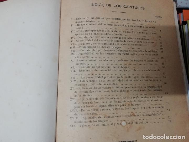 Militaria: REGLAMENTO DE CONTABILIDAD DEL MATERIAL DE ARSENALES. 1895 . TODO UNA JOYA!! - Foto 2 - 198168002