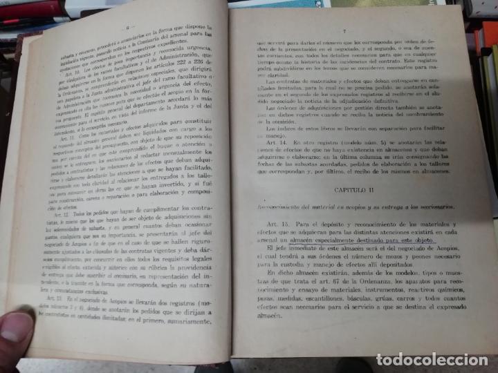Militaria: REGLAMENTO DE CONTABILIDAD DEL MATERIAL DE ARSENALES. 1895 . TODO UNA JOYA!! - Foto 3 - 198168002