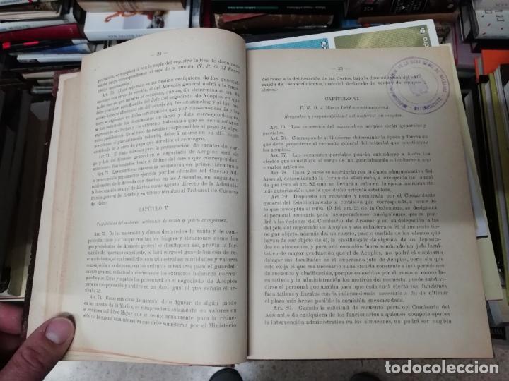 Militaria: REGLAMENTO DE CONTABILIDAD DEL MATERIAL DE ARSENALES. 1895 . TODO UNA JOYA!! - Foto 4 - 198168002