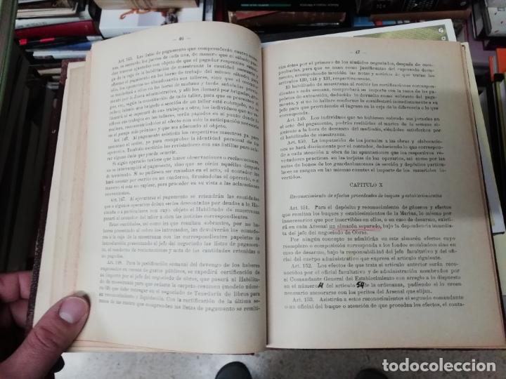 Militaria: REGLAMENTO DE CONTABILIDAD DEL MATERIAL DE ARSENALES. 1895 . TODO UNA JOYA!! - Foto 5 - 198168002