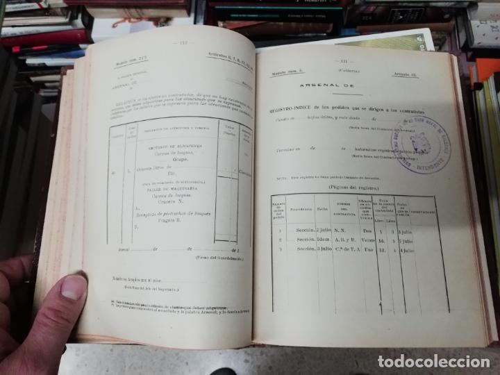 Militaria: REGLAMENTO DE CONTABILIDAD DEL MATERIAL DE ARSENALES. 1895 . TODO UNA JOYA!! - Foto 6 - 198168002