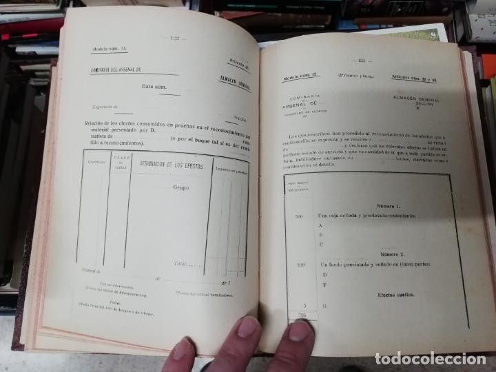 Militaria: REGLAMENTO DE CONTABILIDAD DEL MATERIAL DE ARSENALES. 1895 . TODO UNA JOYA!! - Foto 7 - 198168002