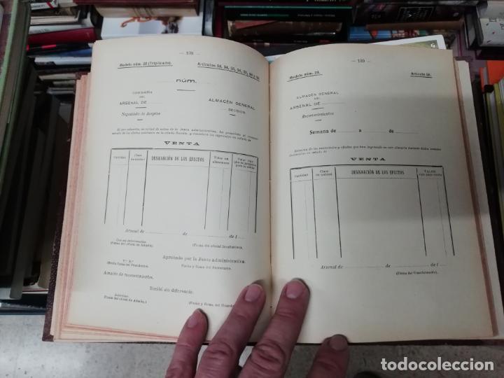 Militaria: REGLAMENTO DE CONTABILIDAD DEL MATERIAL DE ARSENALES. 1895 . TODO UNA JOYA!! - Foto 8 - 198168002