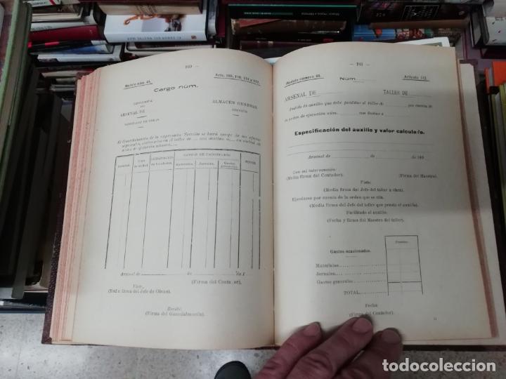 Militaria: REGLAMENTO DE CONTABILIDAD DEL MATERIAL DE ARSENALES. 1895 . TODO UNA JOYA!! - Foto 9 - 198168002