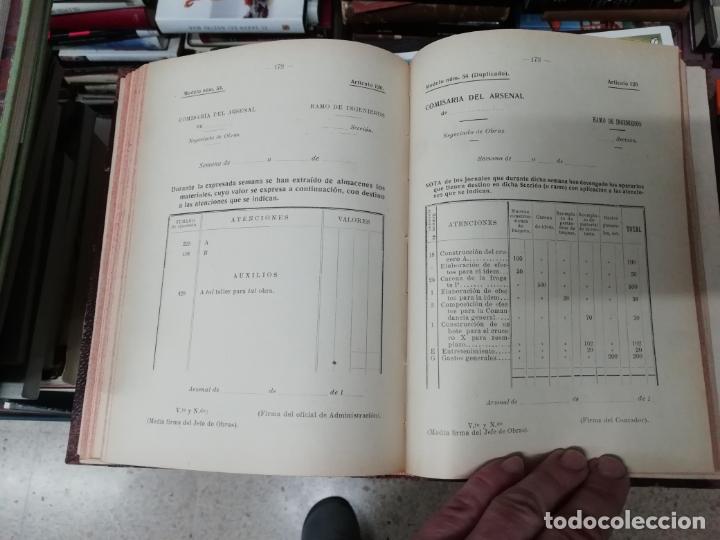 Militaria: REGLAMENTO DE CONTABILIDAD DEL MATERIAL DE ARSENALES. 1895 . TODO UNA JOYA!! - Foto 10 - 198168002