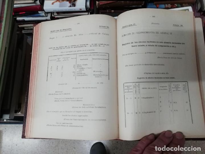 Militaria: REGLAMENTO DE CONTABILIDAD DEL MATERIAL DE ARSENALES. 1895 . TODO UNA JOYA!! - Foto 11 - 198168002