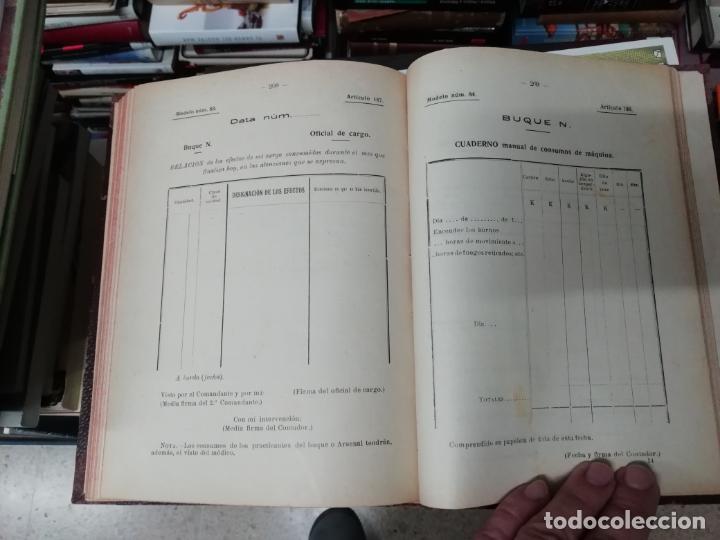 Militaria: REGLAMENTO DE CONTABILIDAD DEL MATERIAL DE ARSENALES. 1895 . TODO UNA JOYA!! - Foto 12 - 198168002