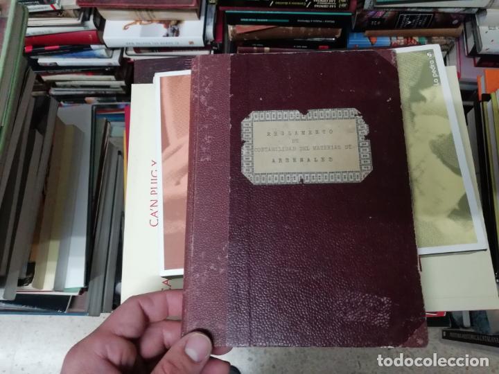 REGLAMENTO DE CONTABILIDAD DEL MATERIAL DE ARSENALES. 1895 . TODO UNA JOYA!! (Militar - Libros y Literatura Militar)