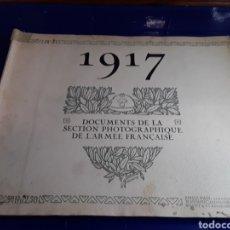 Militaria: DOCUMENTO DE LA SECCIÓN FOTOGRÁFICA DE LA ARMADA FRANCESA (AÑO 1917)PRIMERA GUERRA MUNDIAL N°3. Lote 198975836