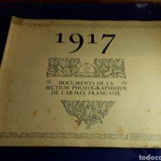 Militaria: DOCUMENTO DE LA SECCIÓN FOTOGRÁFICA DE LA ARMADA FRANCESA (AÑO 1917)PRIMERA GUERRA MUNDIAL N°4. Lote 198976141